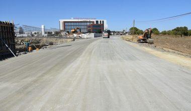 Şehir Hastanesi Bağlantı Yollarının Yapımı Hız Kesmeden Devam Ediyor