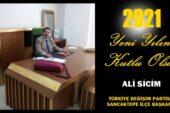 Ali Sicim'in Yeni Yıl Mesajı