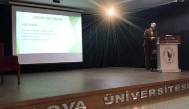 Yalova Üniversitesi'nde Dezenfektanların Doğru kullanımı konuşuldu